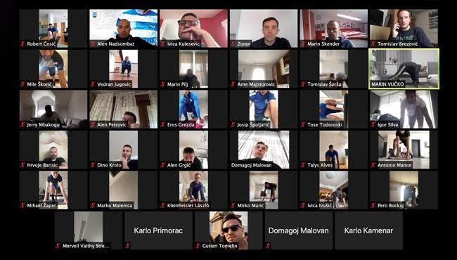 Igrači Osijeka treniraju putem aplikacije na bazi video konferencije