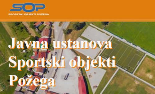 """Javna ustanova """"Sportski objekti Požega"""" ima svoju internet stranicu"""